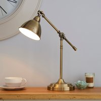 Lever Arm Antique Brass Desk Lamp Bronze