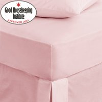 image-Non Iron Plain Fitted Sheet Light Pink / Baby Pink