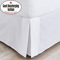 image-Non Iron Plain Dye White Divan Trim White