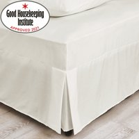 Non Iron Plain Dye Ivory Fitted Valance Cream