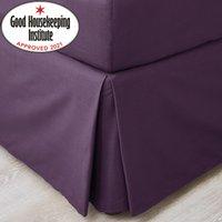 image-Non Iron Plain Dye Blackcurrant Divan Valance Purple