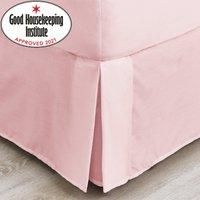 Non Iron Plain Dye Dusky Pink Valance Dusty Pink