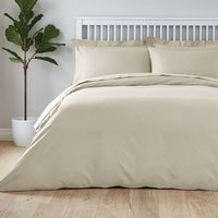 image-Easycare Plain Dye 100% Cotton Cream Duvet Cover Cream