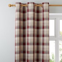 image-Balmoral Red Eyelet Curtains Red / Brown