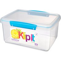 image-Sistema Clip Top Food Storage Box Assorted Colours Clear