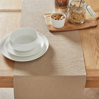 image-Taupe Ribbed Table Runner Taupe