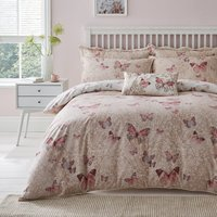 image-Botanica Butterfly Blush Reversible Duvet Cover and Pillowcase Set Blush Pink