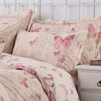 image-Botanica Butterfly Blush Housewife Pillowcase Pink