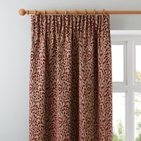 Willow Red Pencil Pleat Curtains Red