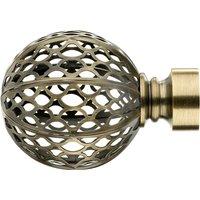 Mix and Match Antique Brass Moroccan Finials Dia. 28mm Bronze