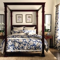 image-Dorma Samira Blue 100% Cotton Duvet Cover Blue / White