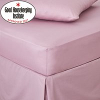 image-Non Iron Plain Fitted Sheet Lilac