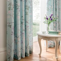 Dorma Maiya Duck Egg Pencil Pleat Curtains Duck Egg Blue