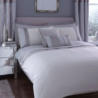 image-Vienna Embroidered Silver Duvet Cover Grey / Silver