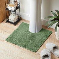 Super Soft Reversible Fern Pedestal Mat Green