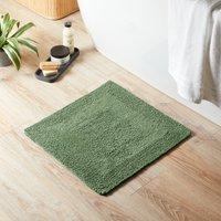 image-Super Soft Reversible Fern Square Bath Mat Green