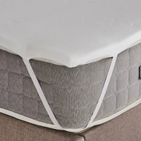 Fogarty bamboo memory foam mattress topper white