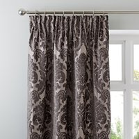 Versailles Charcoal Pencil Pleat Curtains Dark Grey