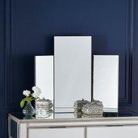 Glass Dressing Table Mirror 60x73cm Silver