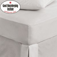Non Iron Plain Fitted Sheet Silver