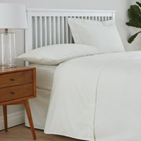image-Easycare Cotton 180 Thread Count Flat Sheet Cream