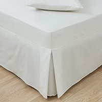 Easycare Plain Dye 100% Cotton 180 Thread Count Ivory Pleated Fitted Valance Cream
