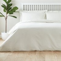 image-Easycare Plain Dye 100% Cotton Ivory Duvet Cover Cream
