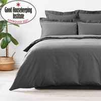image-Non Iron Plain Dye Pewter Duvet Cover Dusk (Grey)