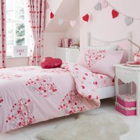 image-Loveable Hearts Duvet Cover and Pillowcase Set Pink
