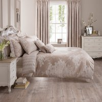 image-Laura Natural Jacquard Duvet Cover Natural
