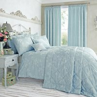 image-Eden Floral Jacquard Duck-Egg Duvet Cover Duck Egg Blue
