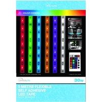 Status 30 Watt LED Colour Changing Strip Light Clear