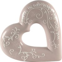 image-Mauve Embossed Heart Ornament Mauve