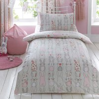 image-Katy Rabbit Duvet Cover and Pillowcase Set Pink
