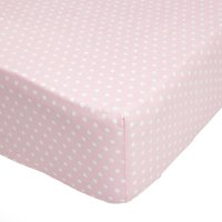 image-Fluffy Friends Pink Polka Dot 25cm Fitted Sheet Pink