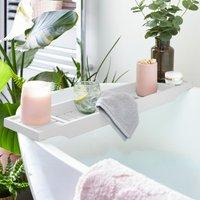 White Bamboo Bath Rack White