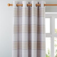 Dorma Sherbourne Natural Eyelet Curtains Brown and White