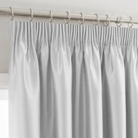 Montana Silver Pencil Pleat Curtains Silver