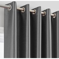 Montana Charcoal Eyelet Curtains Charcoal