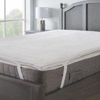 Cooler than memory foam mattress topper white