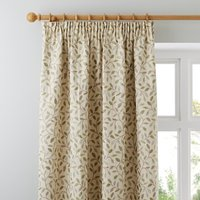 Heritage Glava Green Pencil Pleat Curtains Green and Beige