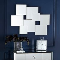 image-Hotel Squares Multi Wall Mirror 82x62cm Silver