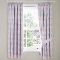Fairies Pink Blackout Pencil Pleat Curtains Pink, Blue and Yellow