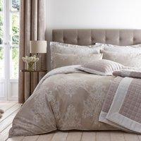 Versailles Natural Reversible Duvet Cover and Pillowcase Set Natural