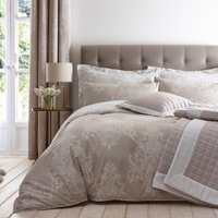 image-Versailles Natural Reversible Duvet Cover and Pillowcase Set Natural