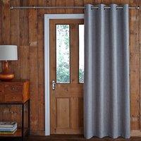 Jennings Grey Thermal Door Curtain Grey