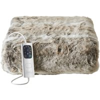 image-Dreamland Relaxwell Faux Fur Heated Throw Natural