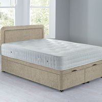 image-Lucia Front Opening Divan Set - Ottoman Crushed Velvet Pearl