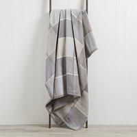 image-Thermosoft Checked 220cm x 240cm Blanket Grey