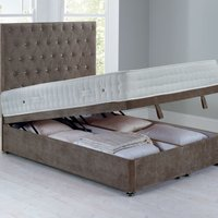 image-Shenice Front Opening Divan Set - Ottoman Grace Taupe (Brown)